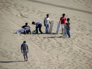 Getting ready for more sand boarding